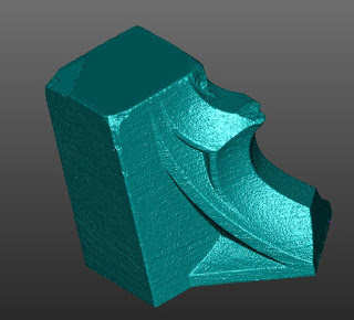 3D scanned image of earthquake damaged spire part.