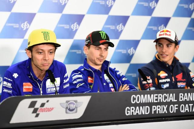 MotoGP Qatar: Rossi: Tidak ada resiko Senna / Prost persaingan dengan Marquez