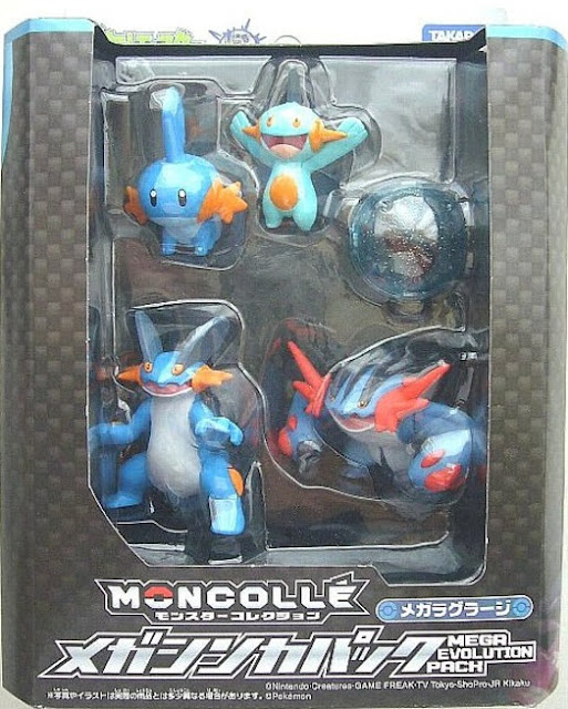 Mudkip figure Takara Tomy Monster Collection MONCOLLE Mega Swampert  Evolution pack