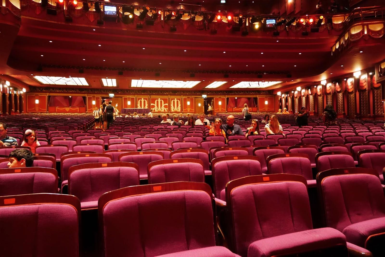 Inside the Aladdin London auditorium