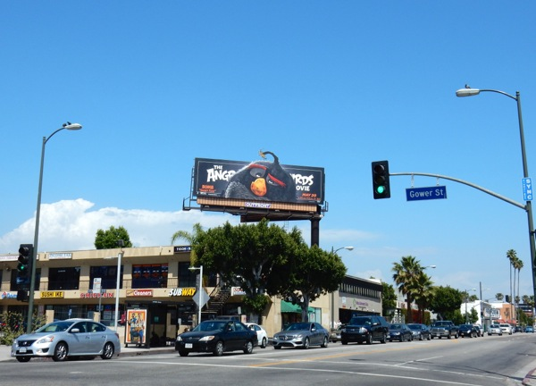 Angry Birds Movie Bomb billboard