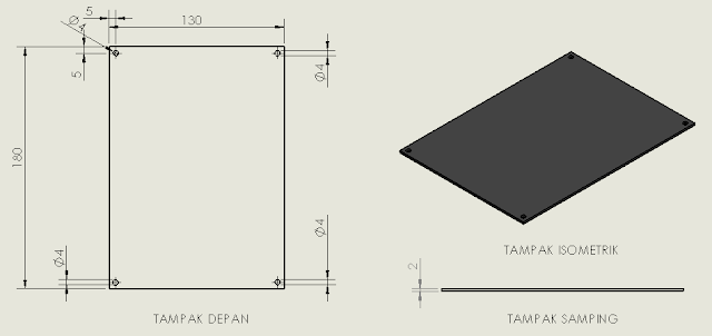 Gambar 3 17 Sheet Panel (sumber : perancangan)