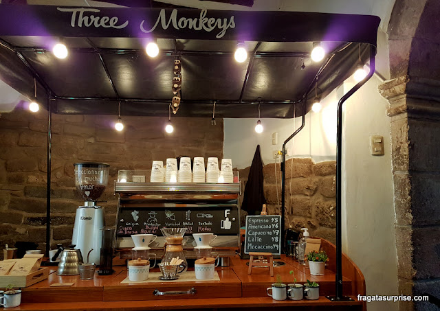 Café Three Monkeys, Cusco, Peru