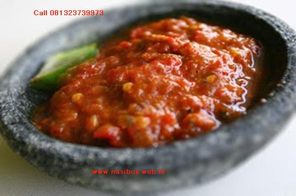 Resep sambel terasi nasi box cimanggu ciwidey