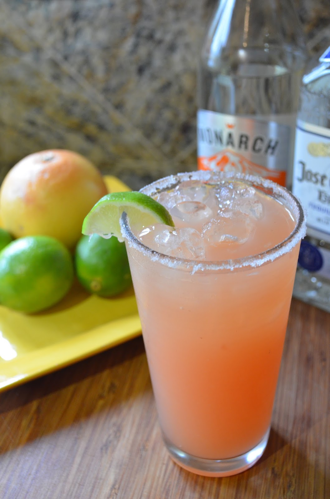 Pink Grapefruit Lime Margaritas from Serena Bakes Simply From Scratch are the perfect recipe for Cinco de Mayo.