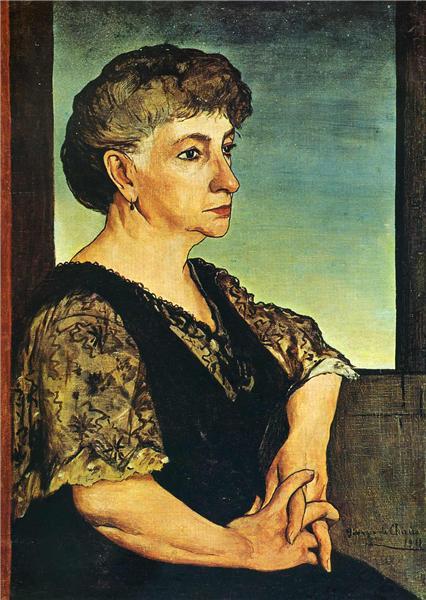 Georgio di Chirico, portrait of the artist's mother, 1911