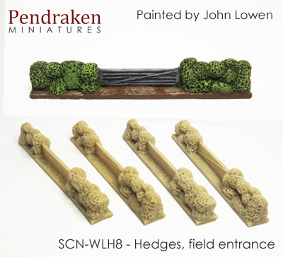 SCN-WLH8   Hedges, field entrance (4 pieces)