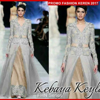 FNH094 Kebaya Model KEYLA SL Dress Silver Velvet BMG