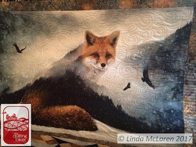 QuiltingBiker Fox Quilt wall hanging
