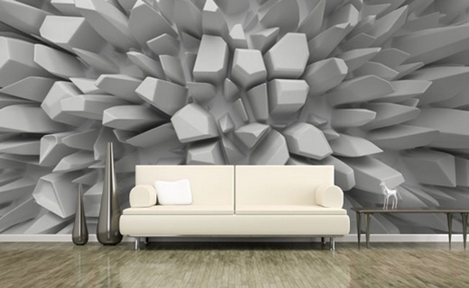 3d wall paper design for interior decoration