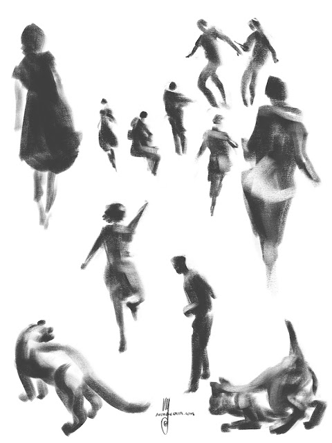 Gesture drawings by Artmagenta