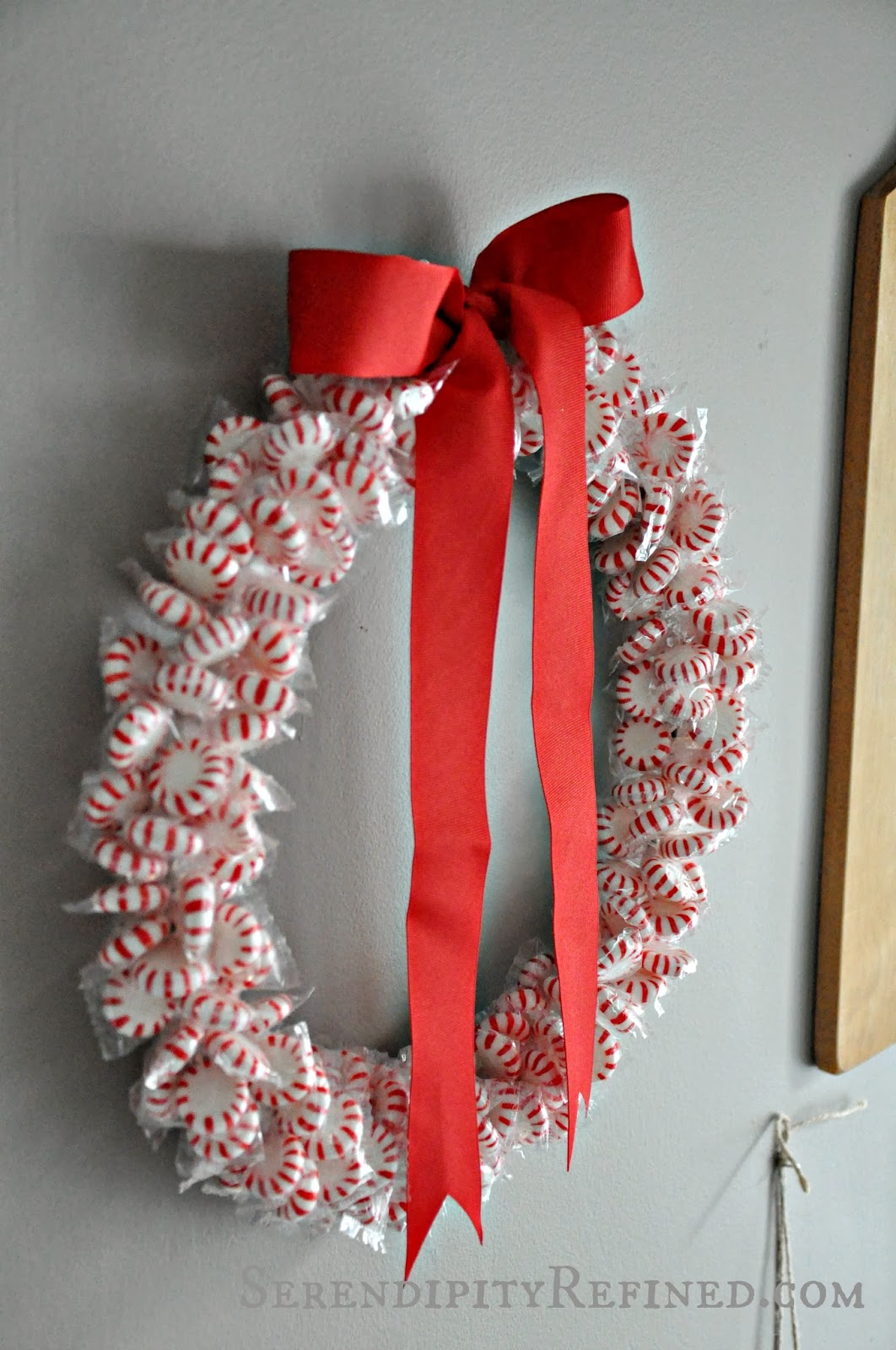 Serendipity Refined Blog: DIY Holiday Peppermint Wreath ...