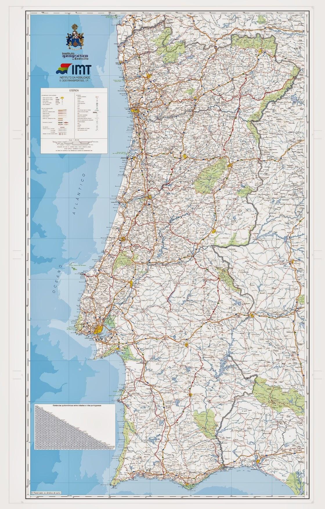mapa de portugal de estradas Estradas de Portugal   SkyscraperCity mapa de portugal de estradas