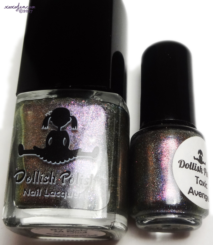 xoxoJen's comparison of Dollish Polish NY State of Mind and Toxic Avenger