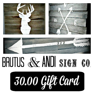 Brutus & Andi Sign Co. Gift Card