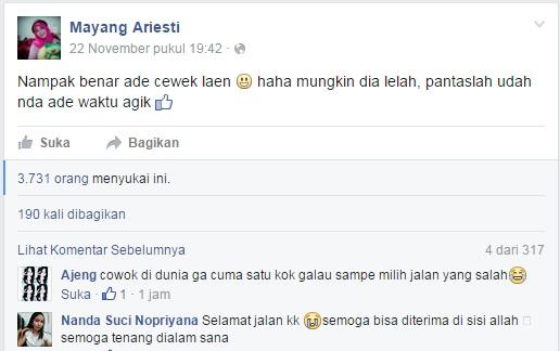 status di facebook sebelum bunuh diri