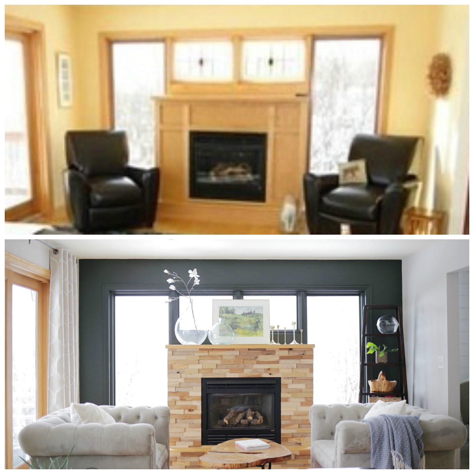 An Upcylced Fireplace Facelift A Before And After