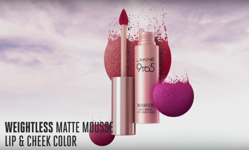 Lakme 9 to 5 Weightless Matte Mousse Lip and Cheek Colour
