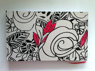 cuaderno de lino bordado