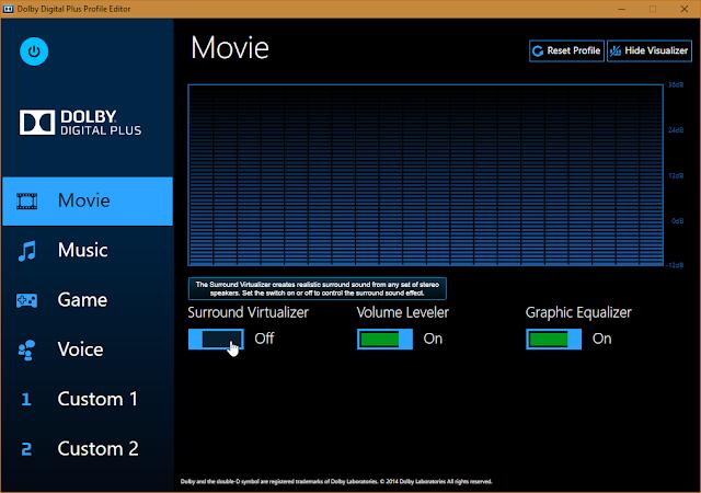 dolby digital control center download