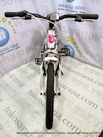 Sepeda Gunung Remaja Wimcylcle Roadtech S Rangka Aloi 7 Speed 20 Inci White/Pink