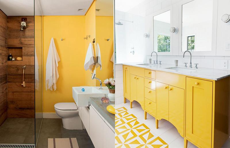 banheiro colorido... que simpático, né?