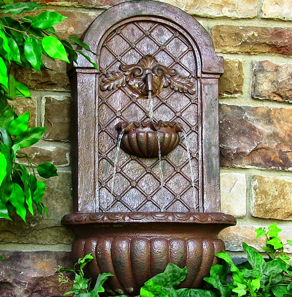 How To Choose You Outdoor Wall Fountain | Ideas for home decor on Backyard Feature Walls id=76946