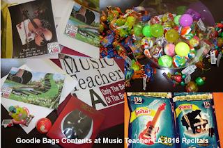 Recital gift bags
