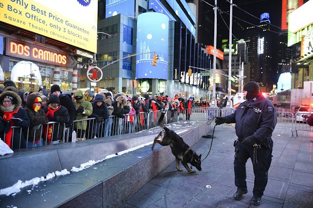 New York City police will fly an unmanned aerial vehicle over a New Year's Eve celebration in Times Square