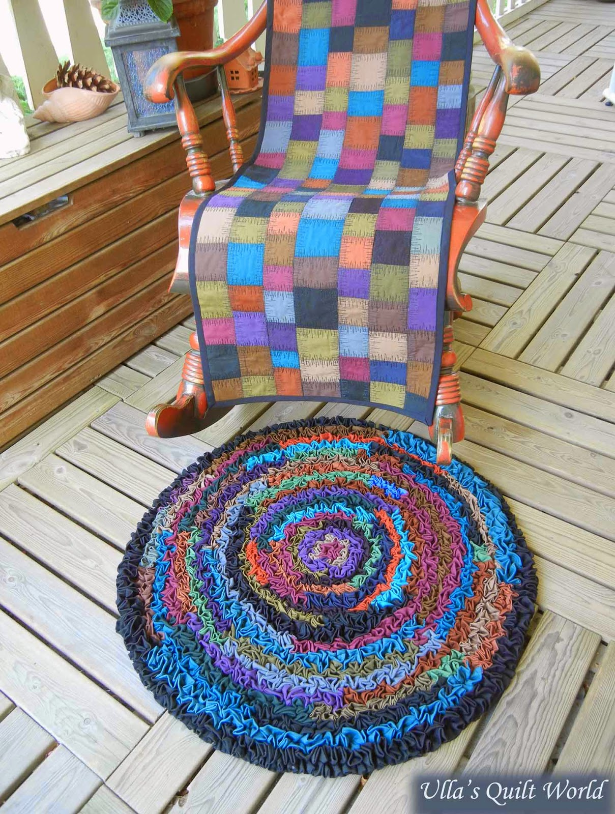 chair cover quilting fishing and accessories ulla s quilt world rocking a rug tutorial