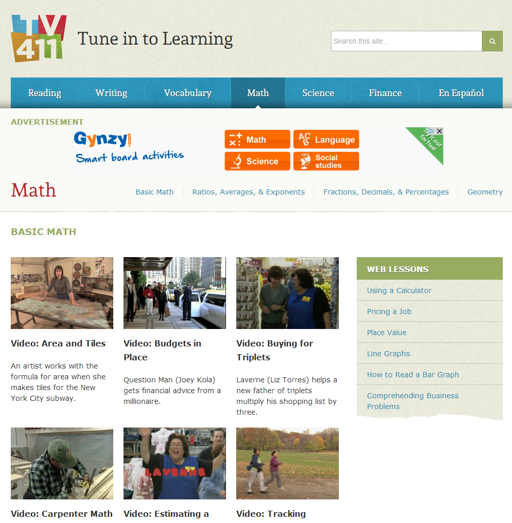 learning never stops great math websites for students of any age the lessons are grounded in real world applications to show students how math will help them outside of the classroom along the videos the site also