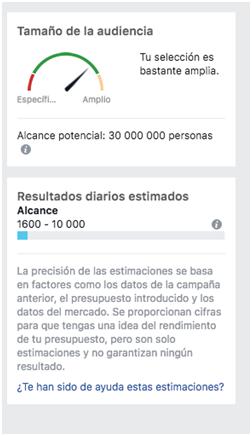 Segmentación detallada Facebook - MasFB