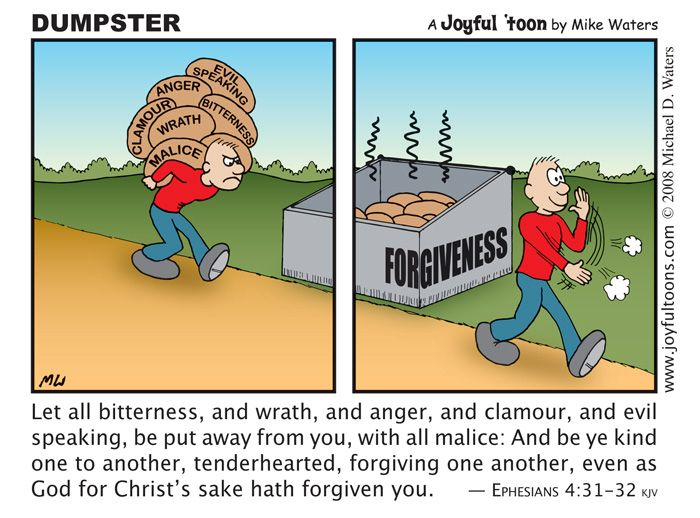 We are to know that 'to err is human - forgiveness is divine'.