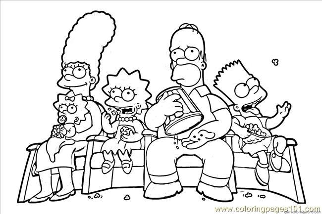 Colorindo E Desenhando: Os Simpsons Para Colorir