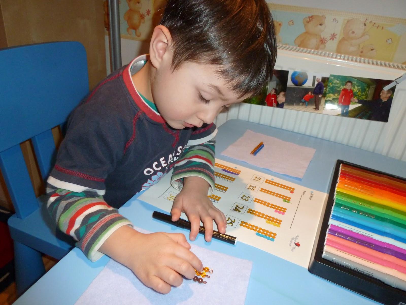 Family Fecs Montessori Activity Bead Stair 20