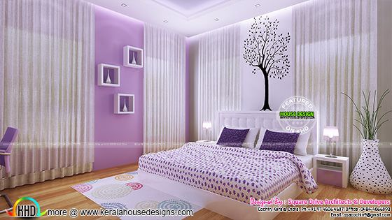 Girl bedroom interior