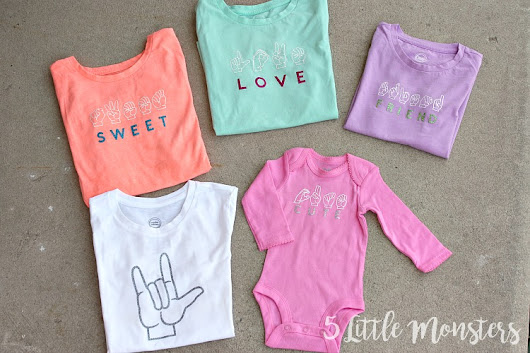 ASL T-Shirts with Cricut