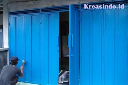 Jasa Pembuatan Model Pintu Garasi Besi Lipat Minimalis di Jabodetabek