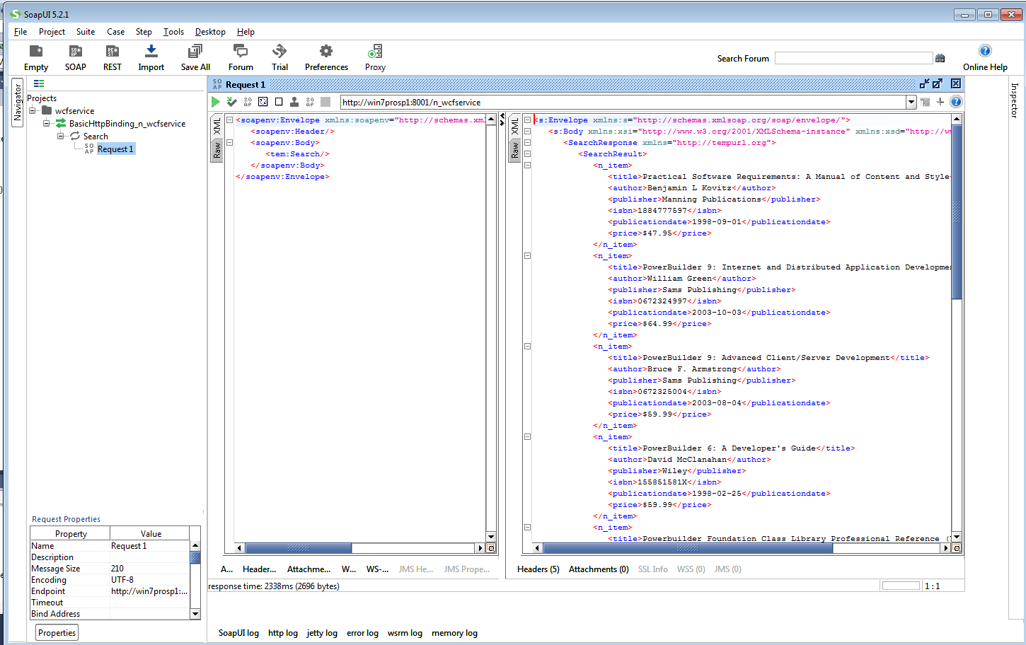 Bruce Armstrong's blog: Calling WCF web services from PowerBuilder