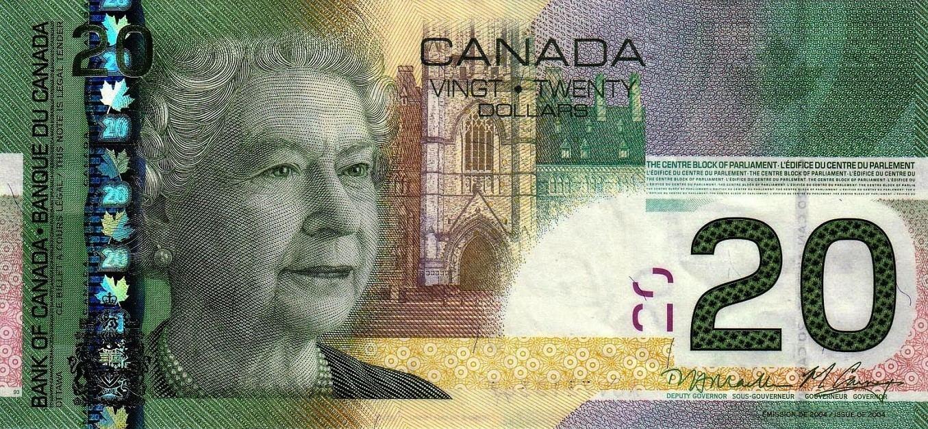 """El billete de 20 dólares canadienses fue premiado en 2004 como el """"billete del año"""" por la International Bank Society y es considerado el más """"bello del mundo""""."""