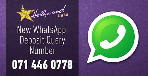 New Whatsapp Deposit Query Number - 071 446 0778