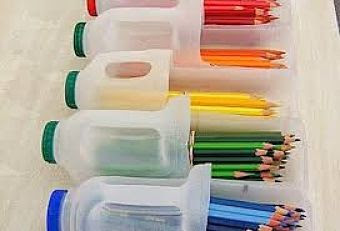 Tempat Pensil Dari Botol Bekas Kerajinan Tangan Unik dan Mudah
