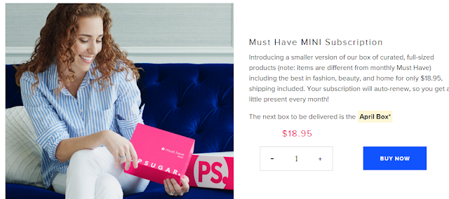 new popsugar must have mini box is on sale!