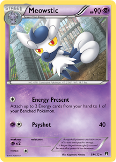 Meowstic BREAKpoint Pokemon Card