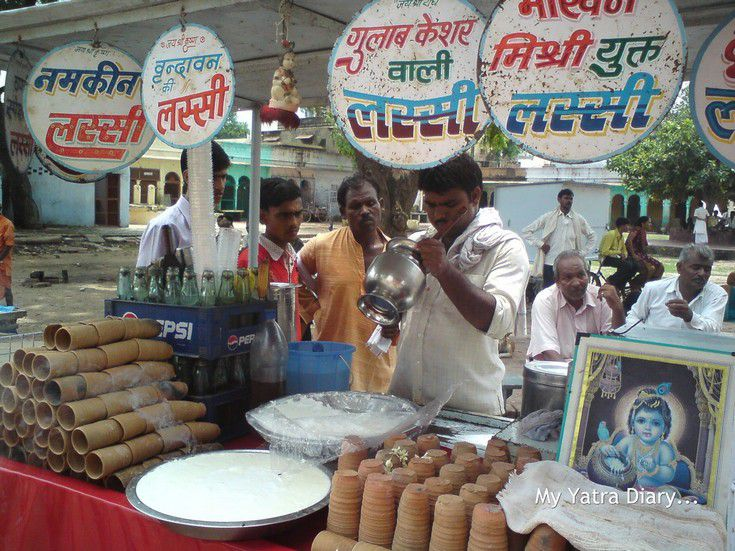 A Lassi (curd based coolant) shop in Vrindavan