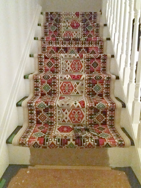 diy stair runner install