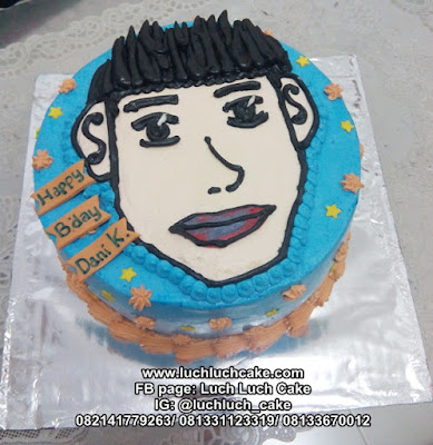 Kue Tart Gambar Wajah Cowok