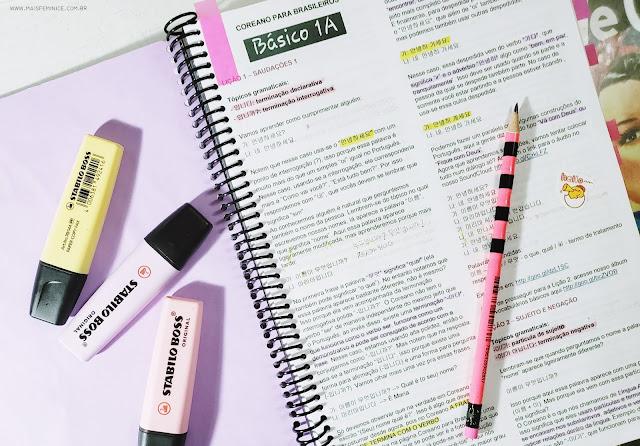 Estudando com a pagina Coreano para Brasileiro