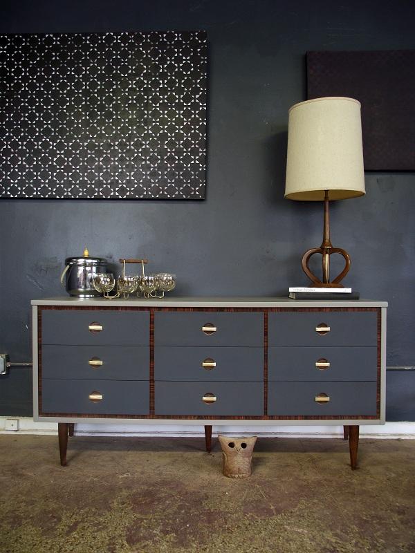 Vintage Ground: Mid Century Two Tone Dresser / Buffet ...