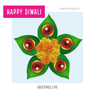 Diawali green leafs greetings live wishes